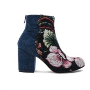 Rachel Comey Tilden Booties in Denim & Brocade 9